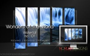 Wonders of the World - Waterfall no.01 by NoRushDesigns