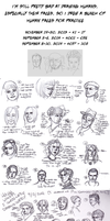 Human Faces Practice/Studies 2013 + 2014 by Hnilmik