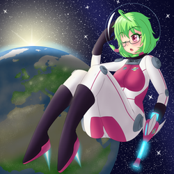 Yui in space by BarronTV1
