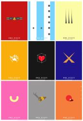 One Piece Minimalist Posters Design by V-Cantabile