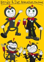 Bendy and The Animation Machine~! Bendy~! by Nikko-Kai-Cutie