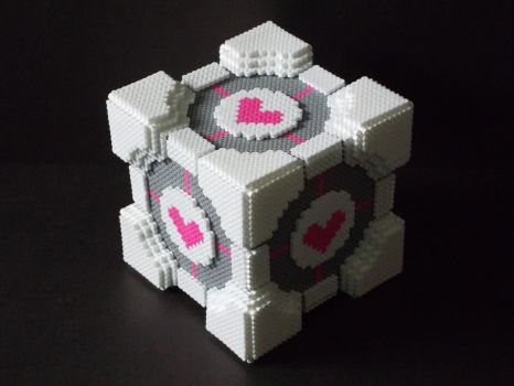 Perler Bead Companion Cube by EP-380