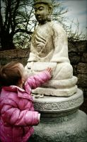 Holding hands with Buddha by MySilentEpiphany