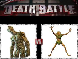 Request #123 Groot vs Floronic Man by LukeAlanBundesen
