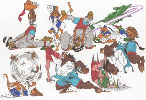 Bloody Roar_Doodles02_may2012 by AlexBaxtheDarkSide