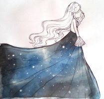 Galaxy dress by scarletart99