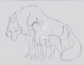 White Wolf/Ainu YCH Sketch by Stray-Sketches