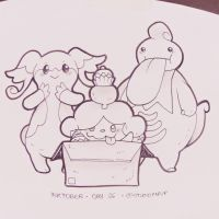Inktober #26: Audino, Slurpuff and Lickilicky
