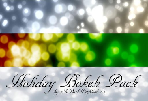 Holiday Bokeh Pack by xXDarkKeybladeXx
