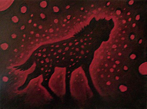 AcrylicPainting3:Spotted Hyena by KayFedewa