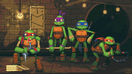 Teenage Mutant Ninja Turtles : Pixel edition by call-me-Hk