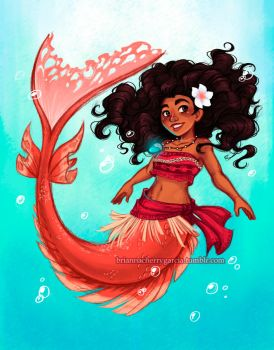Mermaid Moana by briannacherrygarcia
