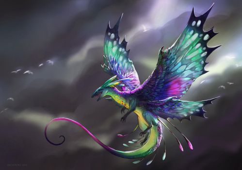 Faerie arch-dragon by Angevere