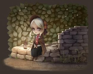 Bloodborne doll in chibi mode by soulfinder90