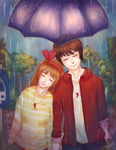 Waiting out the Rain by Tartelii