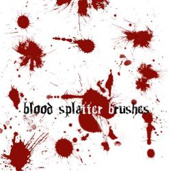 Blood Splatter Brushes by Red--Roses