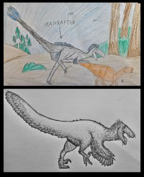 Utahraptor: Old and New. by NordicB3rry