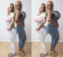 56k mother and daughter - before and after by BritBE