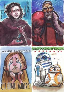 Star Wars Watercolor Cards by Naeviss