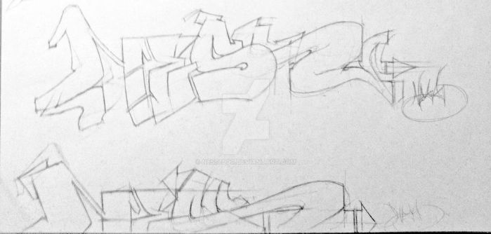 Graffiti Sketchs by Ness1000