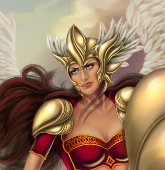 Valkyrie detail by CarrieBest