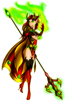 Loreielle colored by NetherStray