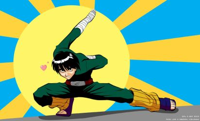 Beautiful Beast Rock Lee by scubbs