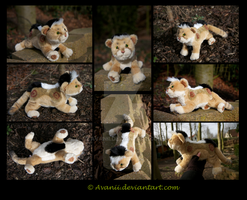 Plushie Commission: Wolfclaw the Mountain Lion by Avanii