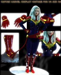 Captain Marvel cosplay costume for V4 and A4 by Terrymcg