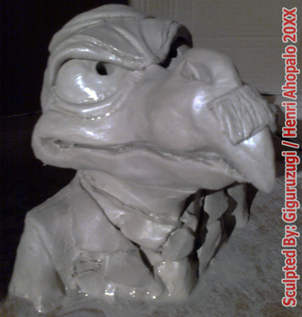 Dolf the Crow Bust from Alfred J. Kwak 1989 Anime by Giguruzugi