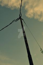 Electricity poles by Louis-XVII