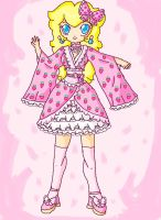 sweet wa lolita peach by ninpeachlover