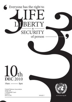 UDHR - Section 3 Poster by weyforth
