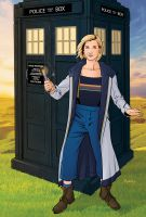13th Doctor and TARDIS by KellyYates