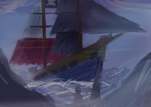 Pirate Ship - QuickDraw by SolIDXGamA