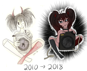 2010 vs 2018 by Galaxy-Chi-Chan
