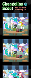 Changeling Scout And The Book Of Daring Do 03 by vavacung