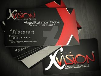vision Advertising Agency - Personal Card by ElJanGoo
