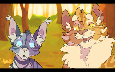 Jayfeather and Lionblaze by WeHaveCandy