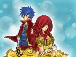 Erza x Jellal by Chengggg