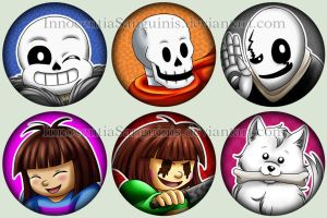 Undertale - Buttons Set 1 by InnocentiaSanguinis
