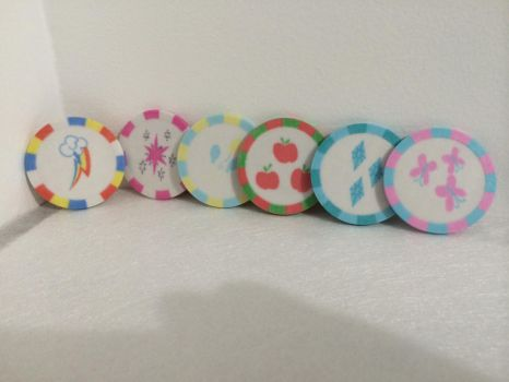 3D Printed - MLP - Cutie Mark Poker Chips v1 by Lil3DPrinting