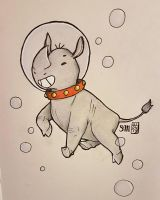 Swimming Rhino by artsy-flooter