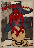 Spiderman Vintage Poster by GTR26