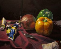 Onion and Peppers Still Life by iancjw