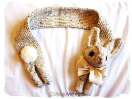 Natural Vegan Bunny Scarf by Cateaclysmic