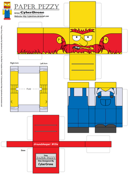 Paper Pezzy- Groundskeeper Willie by CyberDrone