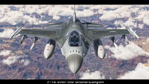 F-16 over Grand Canyon by SwissAdA