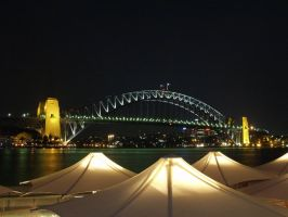 Sydney Harbour Bridge at Night by nedg67