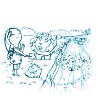 .:Lucinda and lion on the riverside:. by Loisa